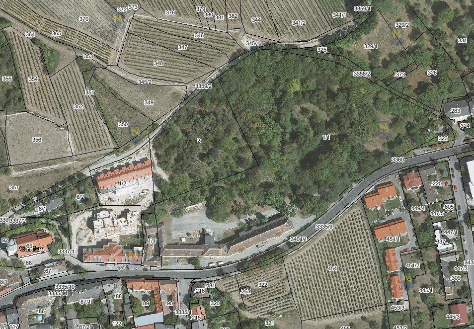 Gainfarn-Schloss-u-Park_Luftbild_Grundstuecksnr_Noe-Atlas_a