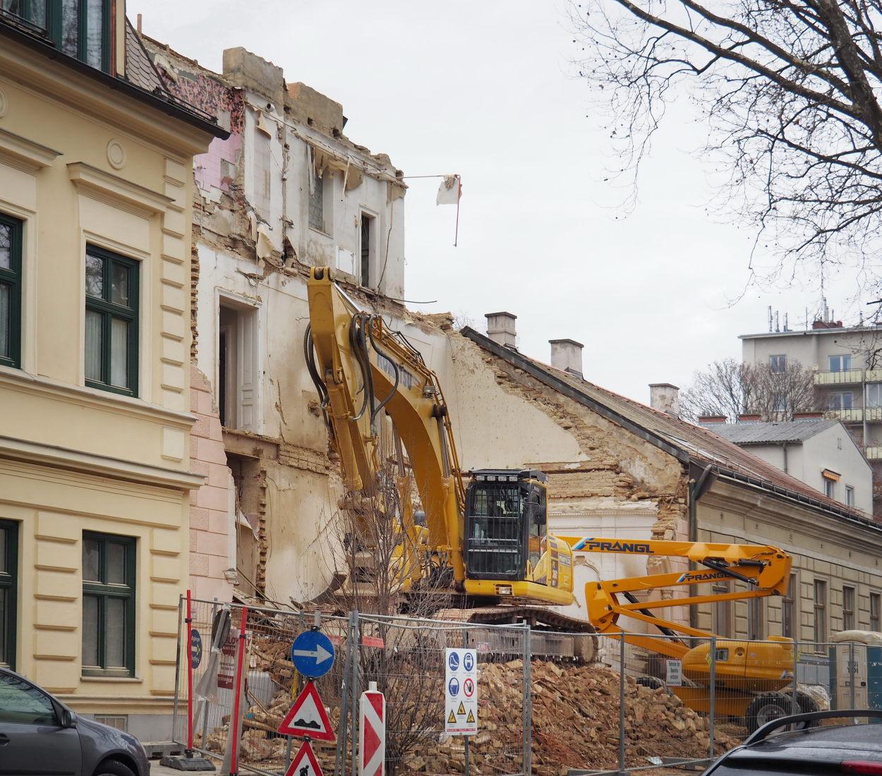 Weinzingergasse 5, Abriss 2016, Wien