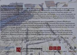 Schautafel zum römischen Vicus in Müllendorf - Hauptstraße 39