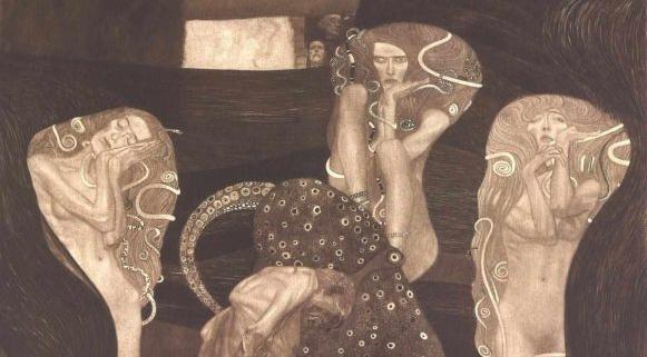 """Das Fakultätsbild """"Die Jurisprudenz"""" von Gustav Klimt"""