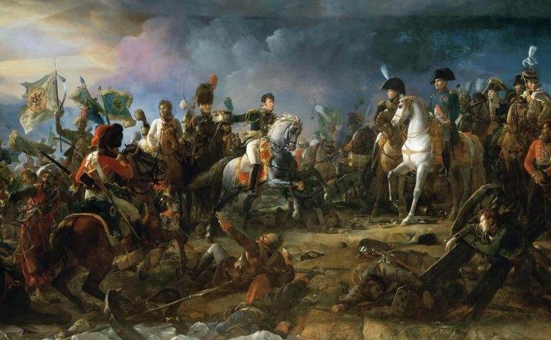 Napoléon bei der Schlacht von Austerlitz, Gemälde von François Gérard (1770-1837)
