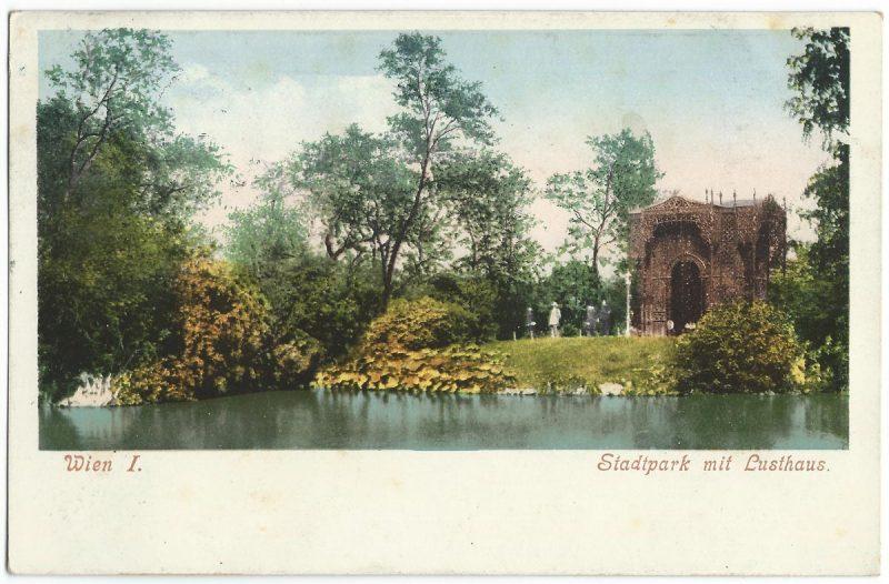 Stadtpark Postkarte, Wien 1905