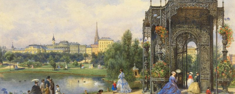 Franz Alt, Beim eisernen Pavillon im Stadtpark (Wien)