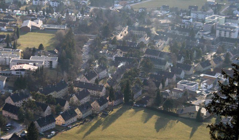 Südtiroler Siedlung in Bludenz, Luftbild